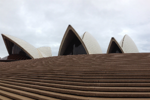 The stairs and sails of the Sydney Opera House