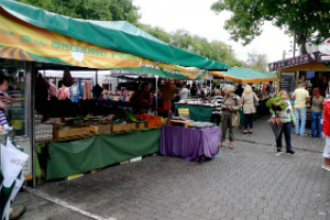 Outdoor stall at Salamca markets