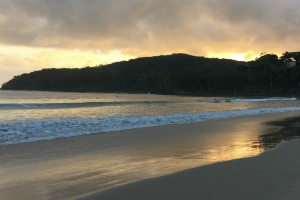 Sunrise over a Sunshine Coast beach