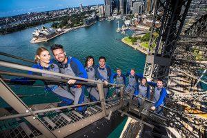 Group climbing on the Sydney Harbour Bridge