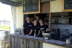 The friendly staff at Lancaster Estate Wines