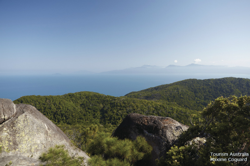 The Summit of Fitzroy Island looking towards Cape Grafton