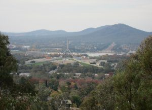 View overlooking Canberra from a lookout