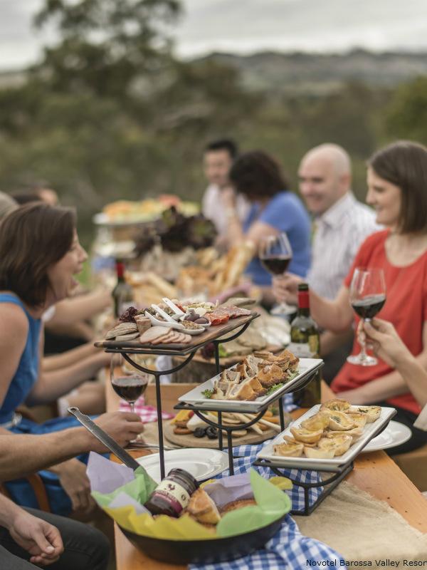 Novotel Barossa Valley resort outdoor dining