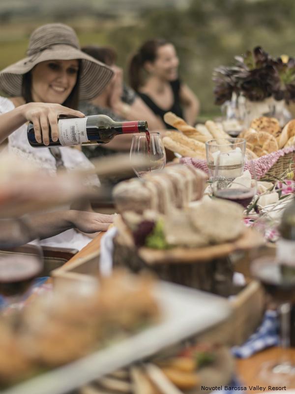 Novotel Barossa Valley resort - pouring Wine