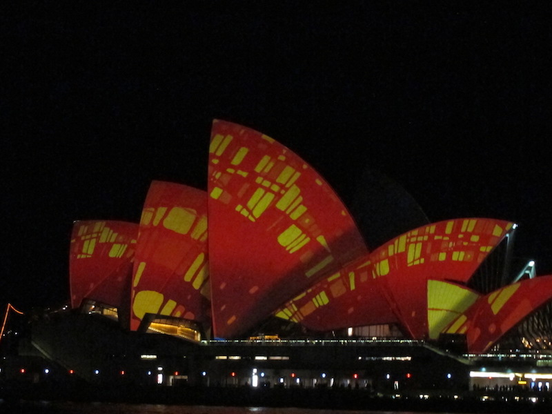 Sydney Opera House illuminated