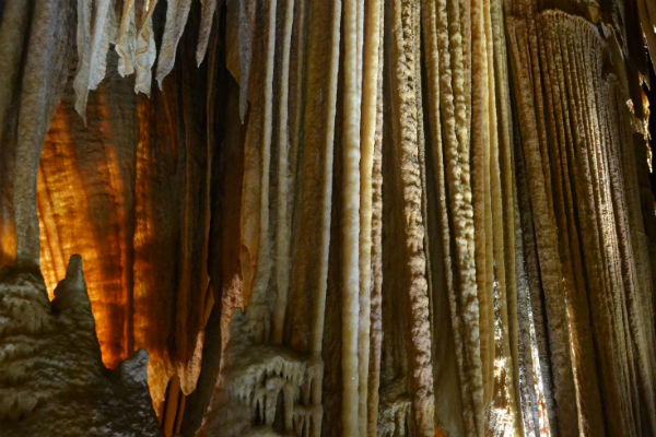 Hanging limestone formations Jenolan Caves