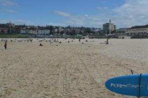 A life savers surf board at Bondi beach