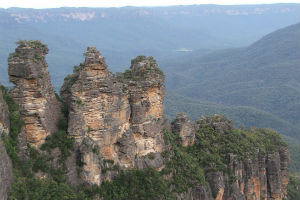 Three Sisters from Echo Point in Katoomba, Blue Mountains near Sydney