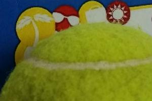 Tennis Ball on TTG Logo